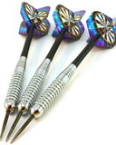 Darts, set of 3 metallic with hologram Royalty Free Stock Photography
