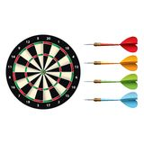 Darts set isolated on white vector Stock Photos