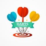 Darts Sign. Vector Stock Photo