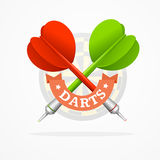 Darts Sign. Vector Royalty Free Stock Images