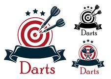Darts sport emblem Stock Images