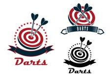 Darts sport emblems or symbols Royalty Free Stock Photography