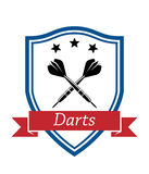 Darts sport icon Royalty Free Stock Photo