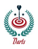 Darts sporting emblem Royalty Free Stock Image