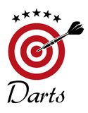 Darts sporting emblem Stock Images