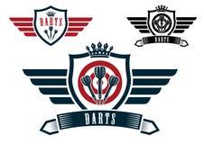 Darts sporting emblems Royalty Free Stock Photo