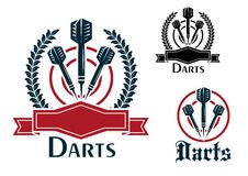 Darts Sporting Emblems Or Badges Royalty Free Stock Image