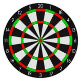 Darts. Sports dartboard with twenty sectors. Vector. Darts. Sports dartboard with twenty sectors. Vector illustration Stock Photo