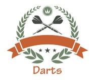 Darts sports heraldic emblem Stock Photos