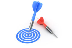 Darts, success and failure Royalty Free Stock Photography