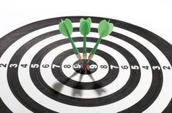 Darts on target Stock Image