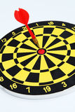 Darts target. Hitting target and mission accomplished in games and business Royalty Free Stock Photo