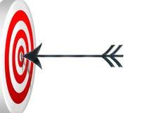 Darts at a target. Many darts / dart icons shot at target Stock Images