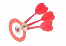 Darts target stock photos