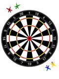 Darts and target. For game - a vector Stock Photo