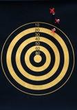 Darts Target. Off mark on a darts board stock photos