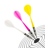 Darts and target Royalty Free Stock Images
