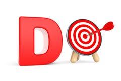 Darts Target as Do Sign Royalty Free Stock Image