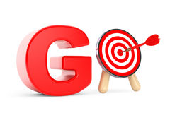 Darts Target as Go Sign Royalty Free Stock Image