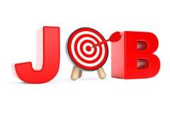 Darts Target as Job Sign Stock Photos