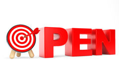 Darts Target as Open Sign Stock Images