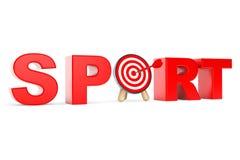 Darts Target as Sport Sign Stock Photo