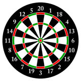 Darts. Target for darts. Isolated object. White background.Vector. Darts. Target for darts Isolated object. White background.Vector illustration Royalty Free Stock Image