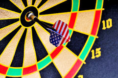 Darts and target Stock Image