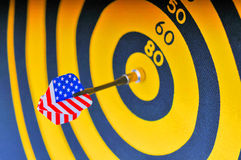 Darts and target Stock Images