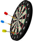 Darts on Target Royalty Free Stock Images