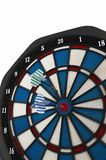 Darts in the target. Isolated Royalty Free Stock Images