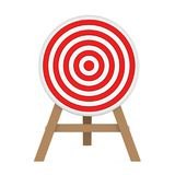 Darts Target Isolated. On white background. 3D render Royalty Free Stock Images