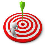 Darts and target Royalty Free Stock Photography