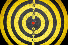 Darts target. Photo yellow darts board target Royalty Free Stock Image