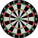 Darts target red & green Stock Photo