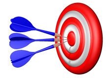 Darts target shooting Royalty Free Stock Photo