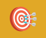Darts target vector illustration. Competition conceptual illustration. Stock Photo