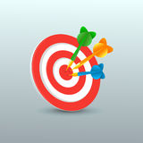 Darts with target Stock Images