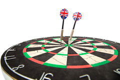 Darts with target on white background Stock Photography