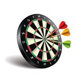 Darts target on white vector royalty free illustration