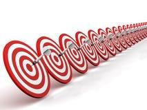 Darts, Targets And Bullseyes Stock Photo