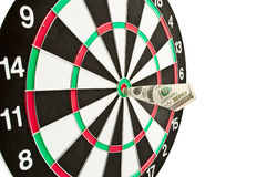 Darts to the dollar Royalty Free Stock Photos