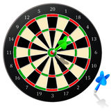 Darts - Vector. Vector dart board with arrow -  Eps 8 Royalty Free Stock Images