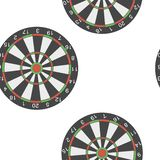 Darts vector icon. Illustration darts game 3d realisticn seamless pattern on a white background. Layers grouped for easy editing illustration. For your design stock illustration