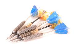 Darts on white Stock Images