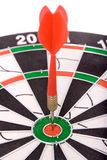 Darts, winning. Close-up on white Stock Image