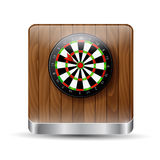 Darts on a wooden background Royalty Free Stock Images