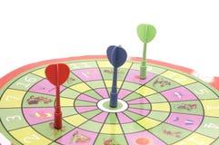 dartsboard крупного плана Стоковые Изображения