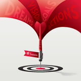 Dart Target Success Business Concept. Illustration Stock Images