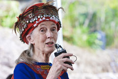 daru dr Goodall Jane Mack Taitung taiwa plemiona Fotografia Stock